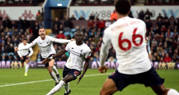 ผลการค้นหารูปภาพสำหรับ Sadio Mane says Liverpool showed the perfect reaction in their comeback win over Aston Villa