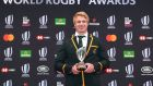 Flanker Pieter-Steph Du Toit  has been named World Rugby Player of the Year. Photograph: Kazuhiro Nogi/AFP/Getty