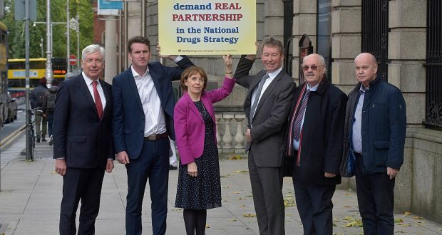 In an unprecedented development, nine former ministers with experience of drug policy – Alex White,Aodhán Ó Ríordán, Roisín Shortall, John Curran, Chris Flood and Pat Carey – called on Government to restore confidence in the national drugs strategy. Photograph: Tommy Clancy