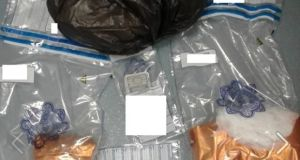 Some of the items seized by gardaí during  searches in Co Mayo. Photograph: An Garda Síochána