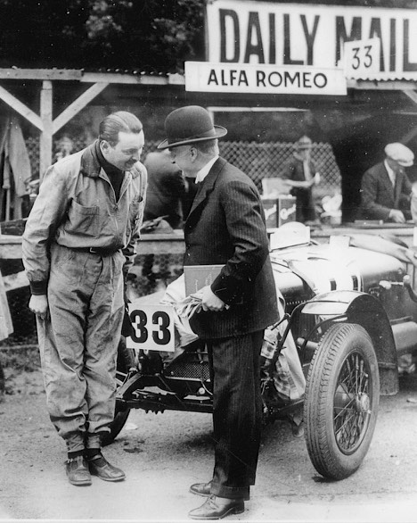 WT Cosgrave greets Boris Ivanowsky, the Russian ex-guardsman, who was victorious in both races in 1929.