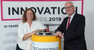 Charlotte O'Kelly, Co Founder and MD and Dan Maher, Chairman of Techworks Marine