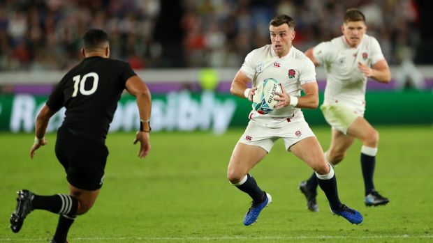 England's outhalf George Ford during his team's semi-final win over the All Blacks. Photograph: Getty Images