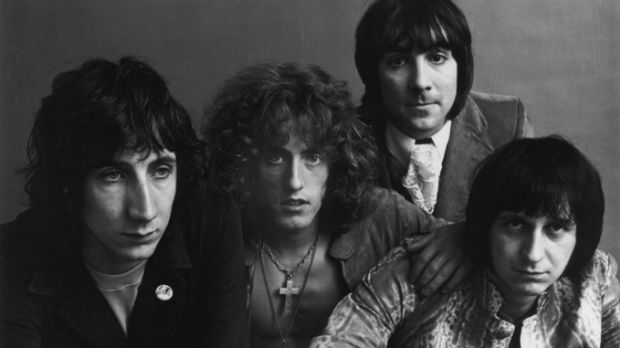 July 1969: Guitarist Pete Townshend, singer Roger Daltrey, drummer Keith Moon, and bassist John Entwistle pose for a feature in Vogue magazine. Photograph: Jack Robinson/Hulton Archive/Getty Images