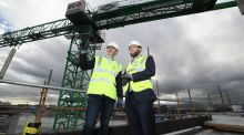Three's Eoin McManus and John Paul Constructions's Jim McDonnell. 'Imagine if a business in a rural location had a high-speed broadband connection, what they could do could be transformative for them,'  McManus says.
