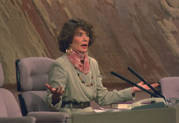 Annie Murphy appeared on The Late Late Show in 1993 to talk about her revelation that Bishop Eamonn Casey had made her pregnant. Photograph: RTE