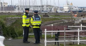 Gardaí at the scene at  Dún Laoghaire, Co Dublin, of the  assault on  Stephanie Ng in December 2017. File photograph: Dave Meehan