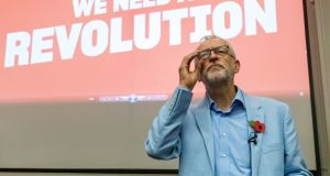 Jeremy Corbyn will say on Tuesday that the prime minister seeks to reduce employment, environmental and consumer standards in a programme of 'Thatcherism on steroids'. Photograph: Vickie Flores/EPA