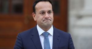 Taoiseach Leo Varadkar: 'people may use less heating and also that means fewer deaths as a result of cold weather'. Photograph: Nick Bradshaw