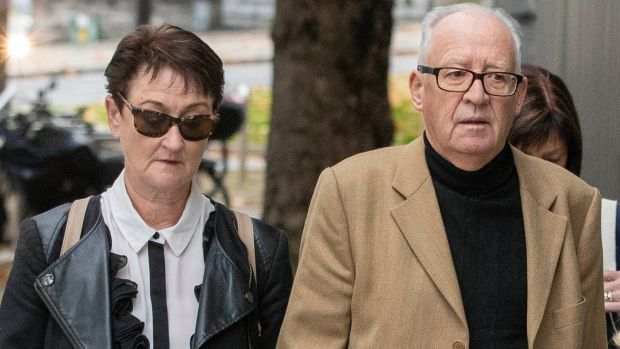 Geraldine and Patric Kriégel, parents of murdered schoolgirl Ana Kriégel, arrivie at court for Tuesday's sentencing hearing. Photograph: Collins