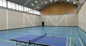 The  sports hall at Oberstown. Photograph: Dara Mac Donaill/The Irish Times