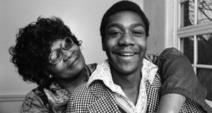 Lenny Henry with his mother in January 1975 after he made his TV debut and won New Faces. Photograph: Staff/Mirrorpix/Getty