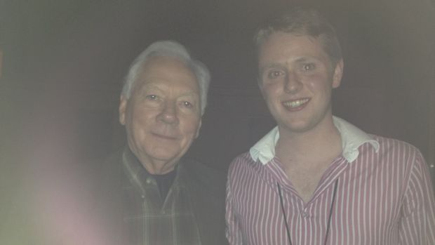Peter Hamilton (right) with Gay Byrne