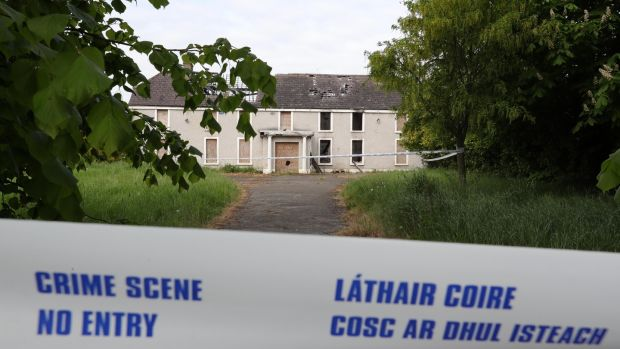 The derelict house and farmyard on the Clonee Road, Lucan, where the body of Ana Kriegel was found. Photograph: Colin Keegan, Collins 18/05/'18 The derelict house and farmyard on the Clonee Road, Lucan where the body of 14 year old Ana Kriegel was found yesterday afternoon...Picture Colin Keegan, Collins Dublin.