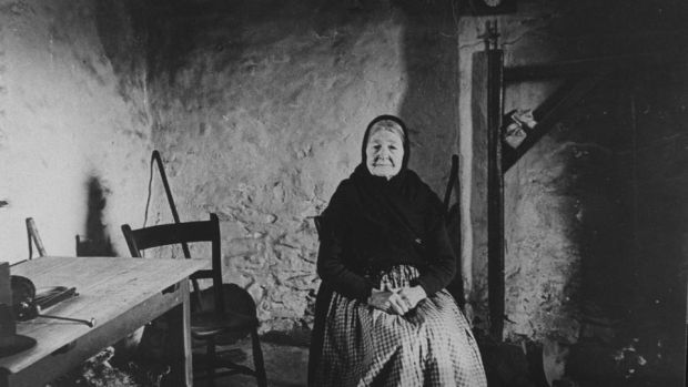 Blasket Island storyteller Peig Sayers: her late son was a friend of Maria Symonds-Gooding and gave her the wooden fireside crane. Photograph: Courtesy of UCD's department of Irish folklore