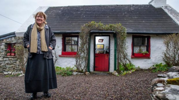 "Maria Symonds-Gooding at her home and studio in Dunquin: ""I found all my inspiration from the way people sheared their sheep and built their stone walls."""