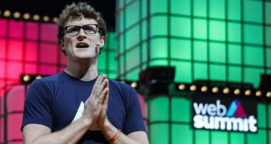 Paddy Cosgrave, chief executive of Web Summit. Photograph: Miguel Lopes/EPA
