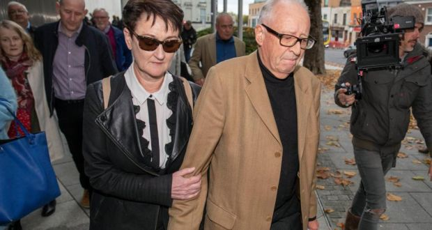 Geraldine and Patric  Kriégel, parents of murdered schoolgirl Ana, leaving court on Tuesday  after the sentence hearing. Photograph:  Collins Courts