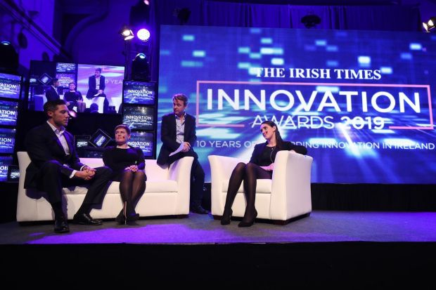 Lory Kehoe of Consensys, science journalist Claire O'Connell and Food Cloud co-founder Iseult Ward discuss with Innovation awards host David McWilliams the innovations of the decade, and what we are likely to be talking about in the coming years