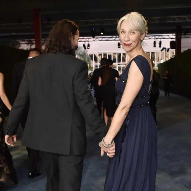 That's right, bitches: Alexandra Grant with Keanu Reeves at the weekend. Photograph: Stefanie Keenan/Getty