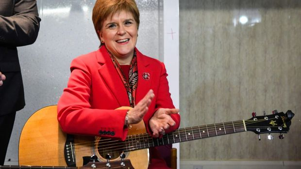 Scotland's first minister Nicola Sturgeon. Photograph: Andy Buchanan/Getty Images