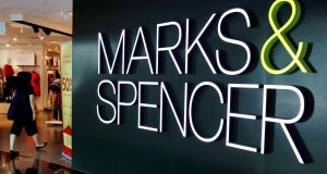 Marks & Spencer ended marginally lower after jumping nearly 8 per cent earlier in the session. The chain reported a plunge in first-half earnings but like-for-like sales growth in its food business. Photograph: Reuters
