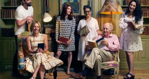 Back row, left to right, Stig Abell, Juno Dawson, Kit de Waal, Syima Aslam, with (front row left to right) Mariella Frostrup and Alexander McCall Smith, the BBC-assembled panel who chose a new BBC list of 100 important  novels that shaped our world. Photograph: David Emery/BBC/PA Wire