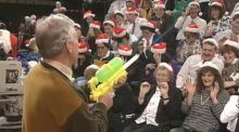 I was too young to appreciate Gay Byrne but he was a mean shot with a water pistol
