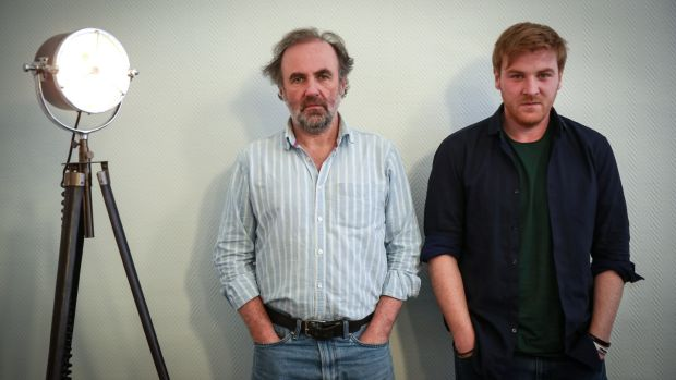 Lorcan Cranitch (right) and playwright Rory Gleeson. Gleeson's new play 'Blood in the Dirt' will premiere at The New Theatre, Temple Bar, starring Lorcan Cranitch.Photograph by Crispin Rodwell for the Irish Times