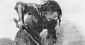 A starving woman during the Irish Famine. The illustratedwas originally published in 1849. Photograph: Illustrated London News/Getty Images
