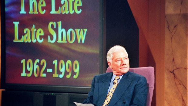Gay Byrne on stage in RTÉ Donnybrook for his last show after 37 years. Photograph: David Sleator