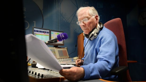 Gay Byrne presenting his Time Warp show on Lyric FM. Photograph: Alan Betson