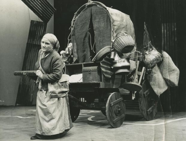 Mother Courage and Her Children, by Bertolt Brecht, directed by Conor O'Malley in 1977. Photograph: Lyric Theatre archive, NUI Galway