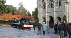 Monika Nawrat's funeral took place in Glasnevin Crematorium Chapel. Photograph Nick Bradshaw