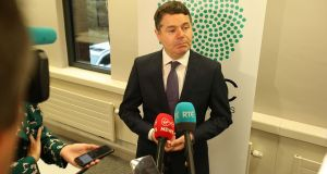 "The Minister for Finance Paschal Donohoe: ""Change is coming""."