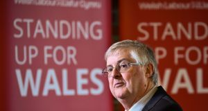 Mark Drakeford, first minister of Wales, at the launch of the Welsh Labour Party election campaign: there is growing interest among Welsh Labour voters in an independent Wales. Photograph: Ben Birchall/PA Wire