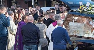 Sonia Aylmer's letter was read out to mourners at the packed church. Photograph: Liam Burke/Press 22