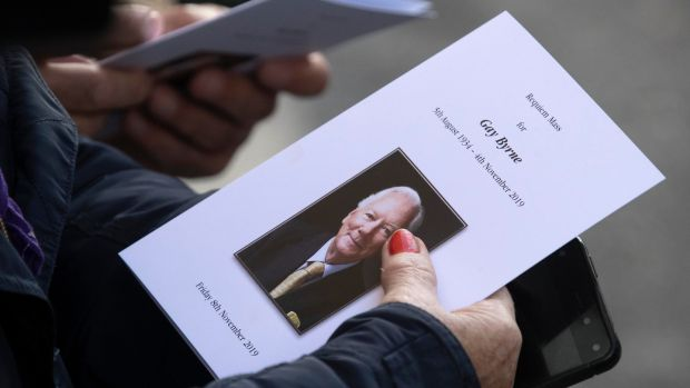 The mass booklet for the funeral of Gay Byrne. Photograph: Colin Keegan/Collins Dublin