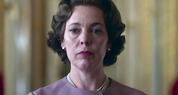 One is not amused: Olivia Colman as Queen Elizabeth in season three of The Crown. Photograph: Netflix
