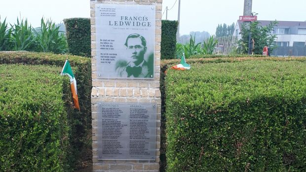 The Francis Ledwidge memorial near Ypres in Belgium.