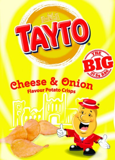 The absolute stayto of it - Northern Ireland Tayto comes in a yellow packet.