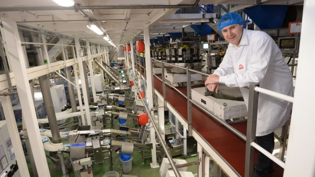 Irish backstop - Jeff Swan, Managing Director of Tayto Snacks, pictured at the factory near Ashbourne, Co Meath. File photograph: Dara Mac Dónaill