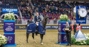 Bertram Allen and GK Casper, winners of the Longines FEI Jumping World Cup 2019 North American League. Photograph: Simon Stafford/FEI