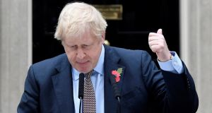 The more UK prime minister Boris Johnson promises a quick trade deal with the US, the higher will be the barriers with the EU. Photograph: Toby Melville/Reuters