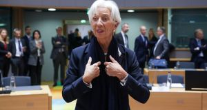 New European Central Bank president Christine Lagarde. Has she just taken on a 'glass cliff' job? Photograph: Aris Oikonomou/AFP via Getty Images