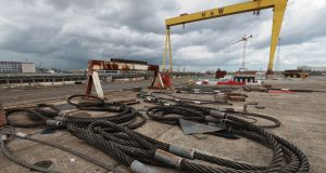 The Harland and Wolff shipyard in Belfast. Photograph: Liam McBurney/PA Wire