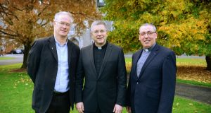 Rev Prof Declan Marmion, dean of theology, Rev Prof Michael Mullaney, president  Saint Patrick's College, Maynooth and Fr Tomás Surlis pro-rector of Maynooth seminary. Photograph: Bryan O'Brien
