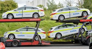 New Garda cars being delivered in 2015. File photo. Photograph: Alan Betson