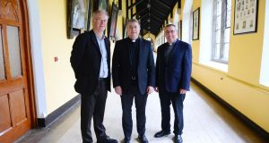 Rev Prof Declan Marmion, Dean of the Faculty of Theology at St Patrick's College, Maynooth, Rev Prof Michael Mullaney, president,  and Rev Dr Tomás Surlis,  pro-rector of the seminary at Saint Patrick's College, Maynooth. Photograph: Bryan O'Brien/The Irish Times