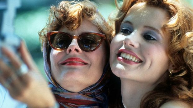 Susan Sarandon as Louise and Geena Davis as Thelma in Thelma & Louise (Ridley Scott, 1991)